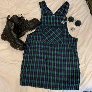 Dresses & Skirts - Vintage 90s grunge plaid jumper dress